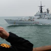 Saluting the Italian Ship Aliso