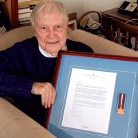 Naval war veteran surprised with Arctic Star Medal