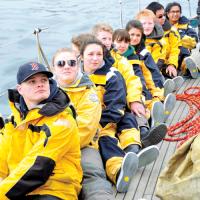 Students Board Oriole for adventure sail