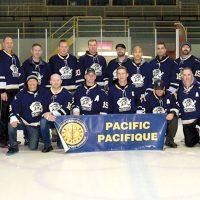 The Men's Senior Tritons hockey team.
