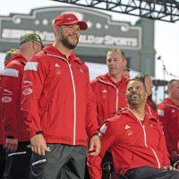 Team Canada captain LS (Ret'd) Bruno Guevremont (left) is all smiles at the Invictus Games Opening Ceremonies.