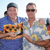 PO2 Joe Baldwin and Commander Julian Elbourne flash their Calbucks at the 2nd Annual Calsino.