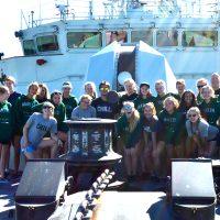 Student athletes from Regina tour namesake warship