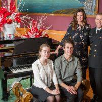 Capt(N) Jason Boyd, Base Commander, and Family