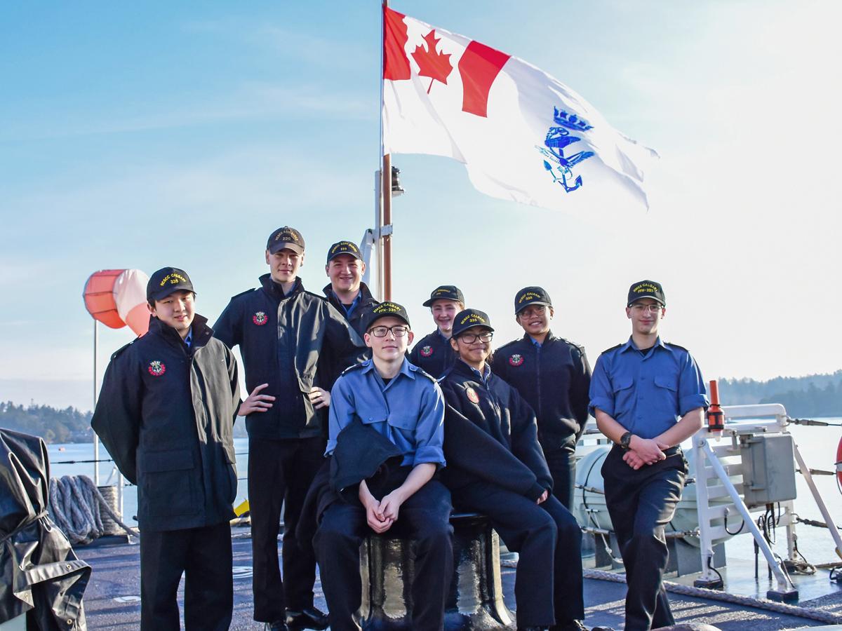 Cadets earn sea legs in HMCS Calgary