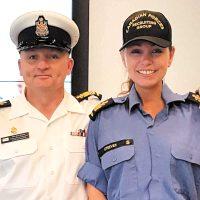 CPO1 Tina Steeves with husband CPO1 David Steeves.