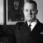 The first of the Royal Canadian Navy's Arctic/Offshore Patrol Ships is named after Vice-Admiral Harry DeWolf, who was decorated for outstanding service throughout his naval career.