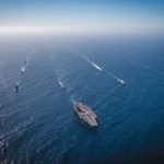 U.S. Navy photo by Mass Communication Specialist Seaman Apprentice Kole E. Carpenter/Released Ships from the Japanese Maritime Self-Defense Force, Royal Canadian Navy and U.S. Navy sail in formation during a Task Group Exercise off the coast of Southern California.