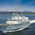 HMCS Calgary sails through B.C. coastal waters. The ship had one of the busiest years in recent history.