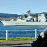 HMCS Vancouver slipped all lines and proceeded to sea.