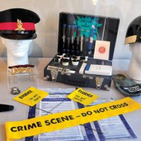 Military Police centre  of museum's new exhibit