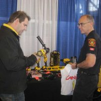 Stanley Black and Deckor booth at the trade show.