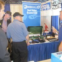 KMS Tools booth at the trade show.