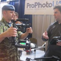 Prophoto UAV booth at the trade show.