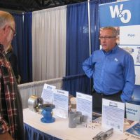 W&O Supply booth at the trade show.