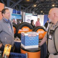 Kal Tire booth at the trade show.