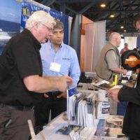 PPG Protective Coatings booth at the trade show.