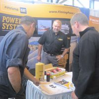 Finning booth at the trade show.
