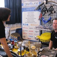 New Line Hose booth at the trade show.