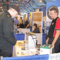 Victoria battery booth at the trade show.