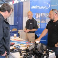 Levitt Safety booth at the trade show.