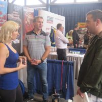 Aloyd Fitness booth at the trade show.