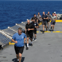 Fitness instructor keeps HMCS Winnipeg crew fit at sea