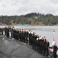 Stealthy, sleek Chicoutimi officially joins the fleet