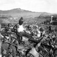 "Nagasaki after the atomic bomb was dropped.  Image by Cpl Lynn P. Walker, Jr. (Marine Corps) - DOD""War and Conflict"" image collection (HD-SN-99-02900). Licensed under Public Domain via Commons."