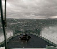 It was a tense journey for sailors in Orca 55 as the training vessel encountered fierce winds and 4 metre swells.