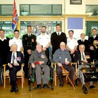 Six Second World War veterans were awarded one of France's highest awards – the French Legion of Honour on Jan. 21. At the Veterans Memorial Lodge at Broadmead Jack Porter, 92, Bill Capek, 93, Ken Parton, 93, Geoff Lesueur, 92, Philip Jeffrey, 94, and the oldest of the six Earl Clark, 99 were presented their medals by Cmdre Marla Mulkins, Commander Naval Reserves, and CPO1 Mike Feltham, Formation Chief.