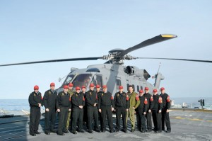 An Air Workup group with the new CH-148 Cyclone.