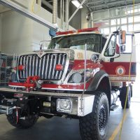 Rachel Lallouz, Lookout The new range truck, used to fight wilderness fires, at the CFB Esquimalt fire hall.