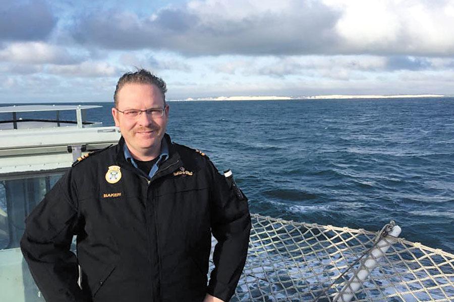 Lieutenant-Commander Mike Baker, legal advisor to HMCS Charlottetown command team.