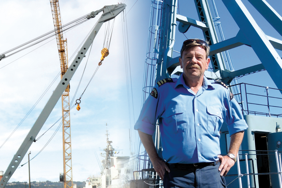 Barge Master Shawn Taylor says he and his crew are proud of the work they do aboard North America's only remaining operational steam powered crane barge, YD 250.