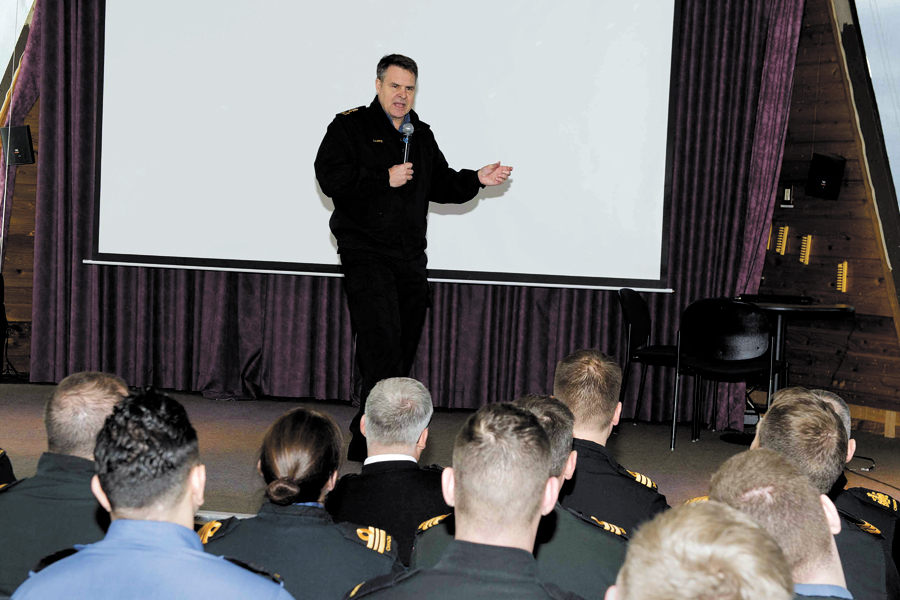 Vice-Admiral Lloyd conducts Town Hall