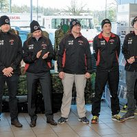 Wearing their uniforms, participants in this year's Wounded Warrior Run B.C. gather at Jim Pattison Subaru in Colwood to kick-off the fundraising campaign. Photo by John W. Penner, John's Photography