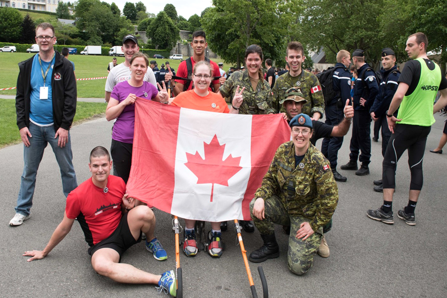 Canadian Pilgrims at the 59th International Military Pilgrimage at Lourdes, France, enjoyed friendly sports competition with other nations. Photo by Sgt George Jones, Army Public Affairs