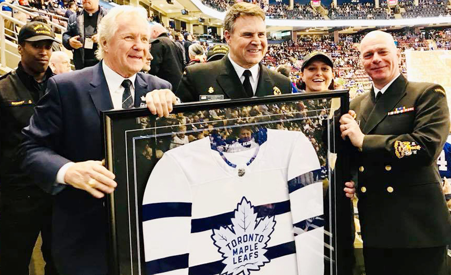 designer fashion b0ee2 fba46 Toronto Maple Leafs pay tribute to the Royal Canadian ...