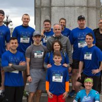 Members of the 443 Helicopter Squadron Times Colonist 10K Run team.