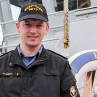 LS Michael Spencer, a stoker aboard HMCS Glace Bay, is sharing the story of his battle with depression in hopes of benefiting others who may be struggling. Photo by Ryan Melanson, Trident Newspaper