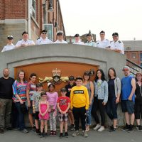 Participants from Big Brothers Big Sisters of Victoria were joined by Pacific Fleet Club Executive committee members and HMCS Victoria and HMCS Chicoutimi crew members.