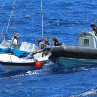HMCS Ottawa provides assistance during Leaders at Sea