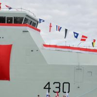 In Photos: First Arctic Offshore Patrol Vessel named