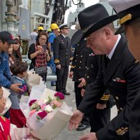 HMCS Calgary members are welcomed to Jeju, South Korea, as part of the country's International Fleet Review. Photos by LS Mike Goluboff, MARPAC Imaging Services