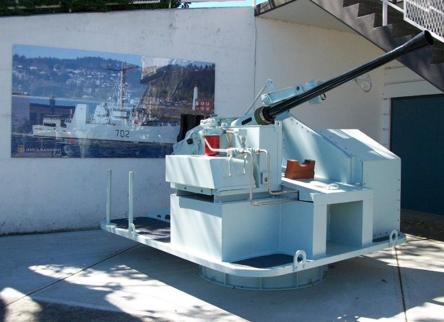 The Vancouver Island Military Museum in Nanaimo displays a 40mm gun from HMCS Nanaimo. Photo credit DND