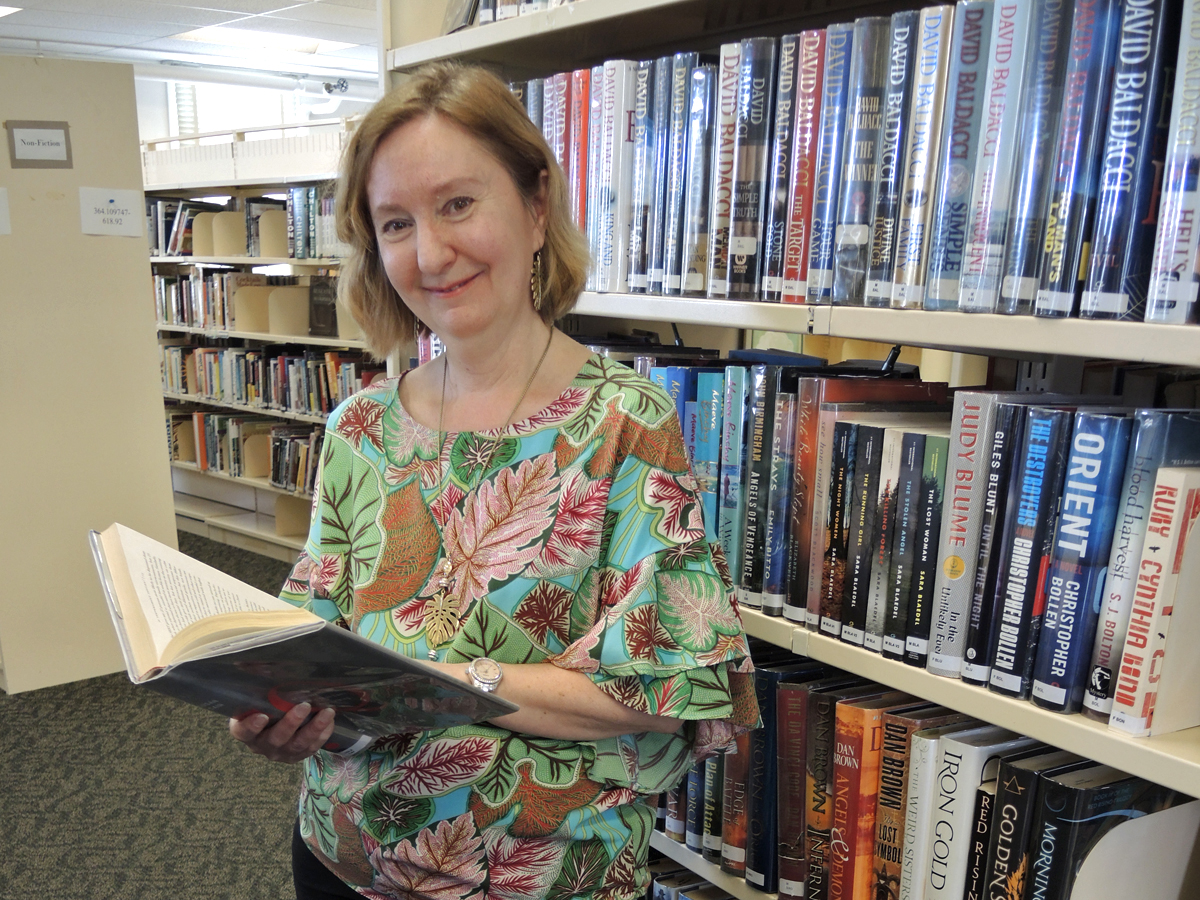 Base librarian Sheryl Irwin is about to turn the page to the next chapter of her life story, retirement.