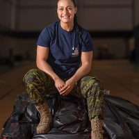 Bombardier Marie-Herene Maillet became the first female Canadian Armed Forces (CAF) member to achieve a perfect score of 400 on her annual FORCE Test.