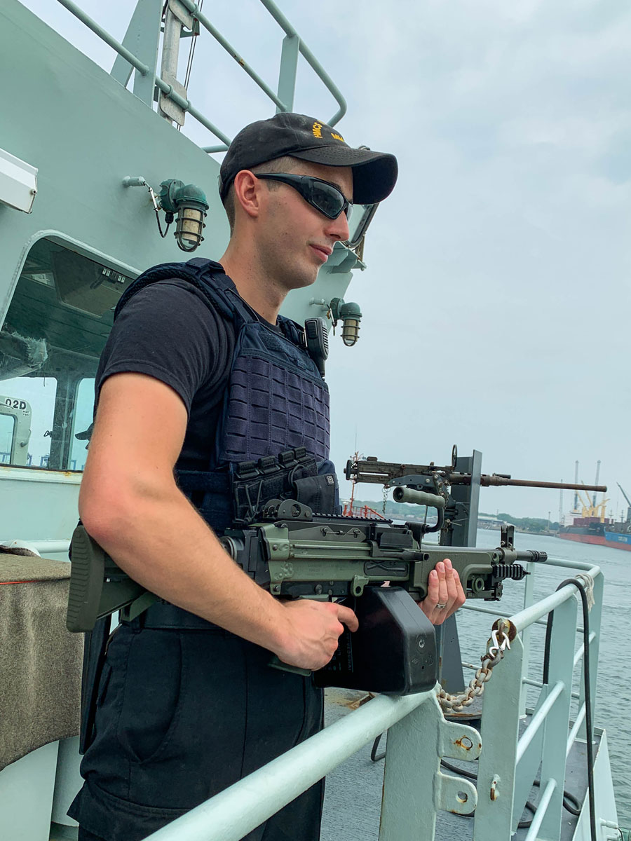 A sailor assumes force protection duty.