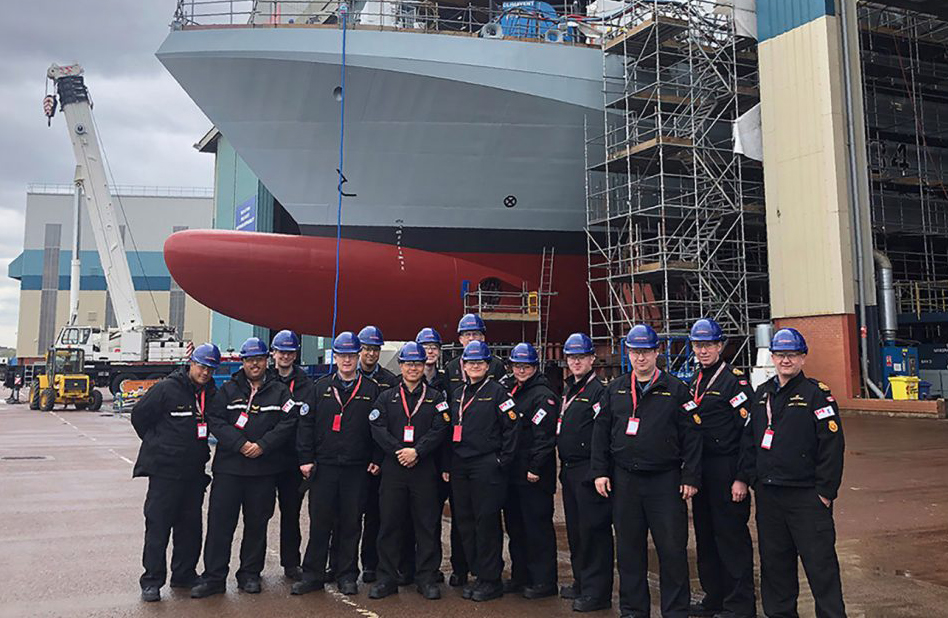 Twenty-nine sailors from HMCS St. John's recently had the opportunity to visit the BAE Systems Shipyard in the United Kingdom.